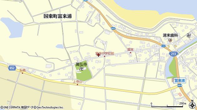 大分県国東市国東町富来浦182周辺の地図