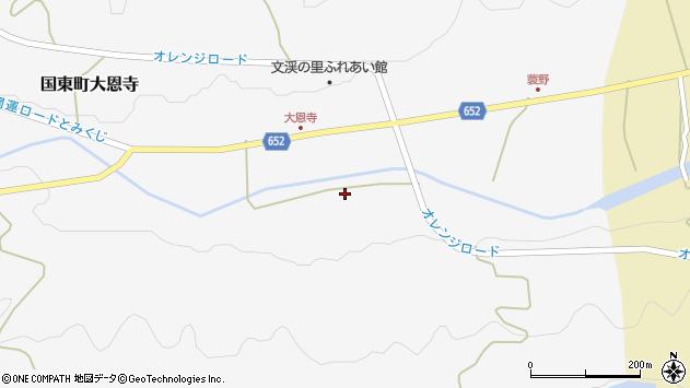 大分県国東市国東町大恩寺859周辺の地図