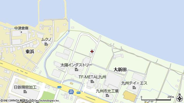 大分県中津市大新田423周辺の地図