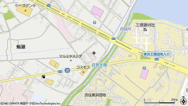 大分県中津市蛎瀬1125周辺の地図