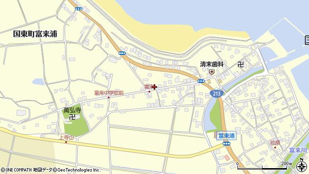 大分県国東市国東町富来浦1326周辺の地図