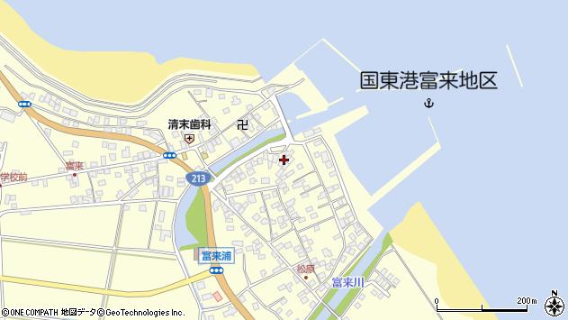 大分県国東市国東町富来浦2155周辺の地図