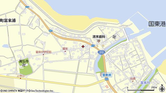 大分県国東市国東町富来浦1409周辺の地図