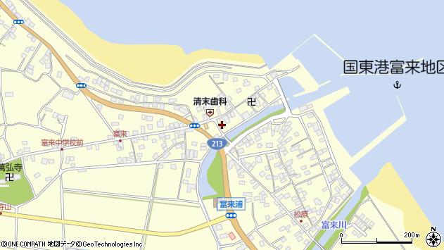 大分県国東市国東町富来浦1448周辺の地図