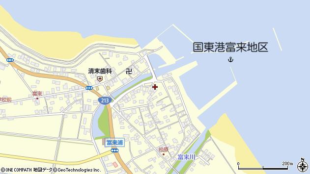 大分県国東市国東町富来浦2156周辺の地図