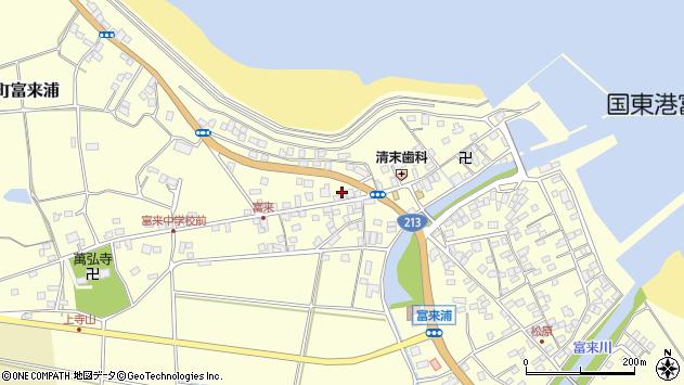 大分県国東市国東町富来浦1411周辺の地図