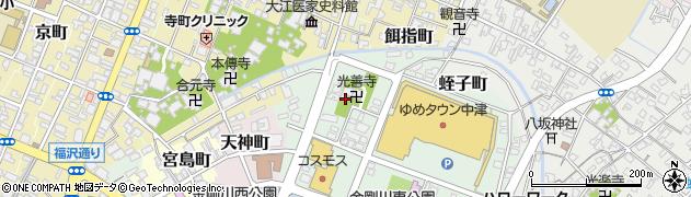 大分県中津市蛭子町3丁目周辺の地図