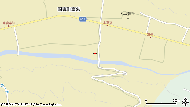 大分県国東市国東町富来2381周辺の地図