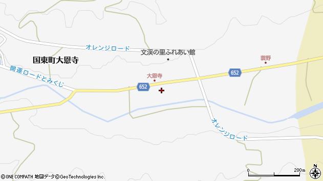大分県国東市国東町大恩寺342周辺の地図