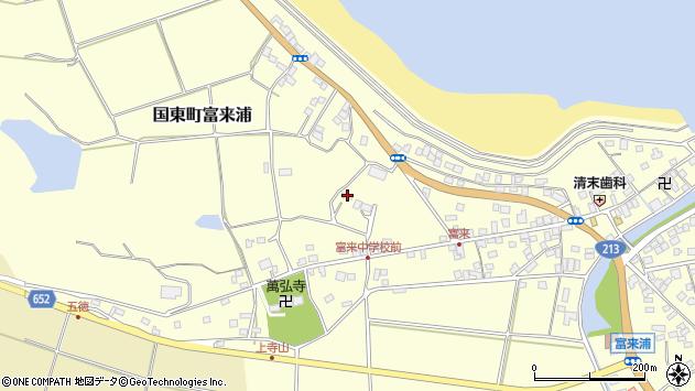 大分県国東市国東町富来浦197周辺の地図