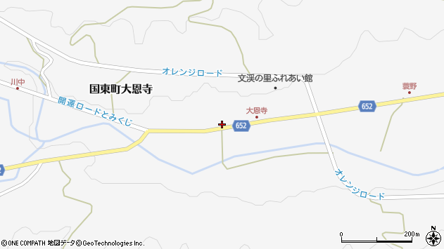 大分県国東市国東町大恩寺231周辺の地図