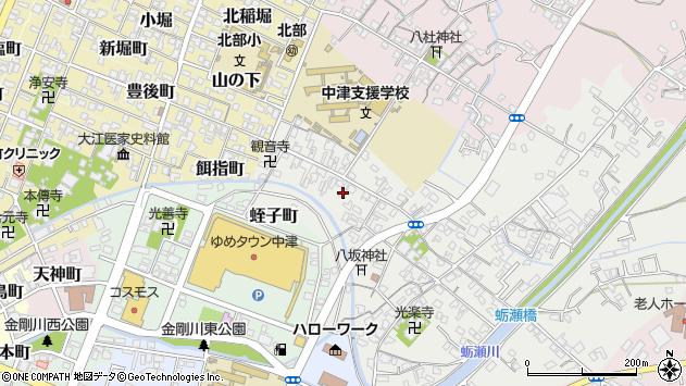大分県中津市蛎瀬487周辺の地図
