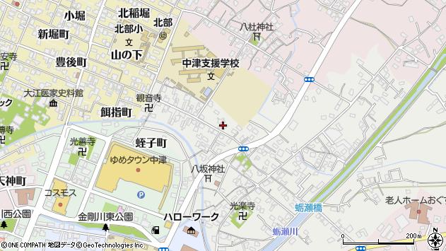 大分県中津市蛎瀬577周辺の地図