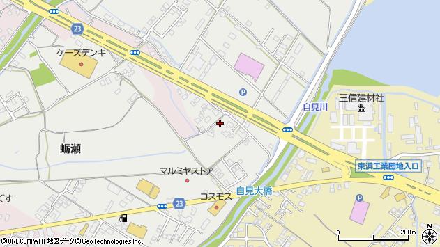大分県中津市蛎瀬1145周辺の地図