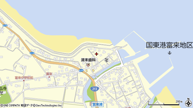 大分県国東市国東町富来浦1491周辺の地図