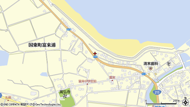 大分県国東市国東町富来浦1211周辺の地図