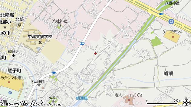 大分県中津市蛎瀬618周辺の地図