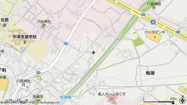 大分県中津市蛎瀬636周辺の地図