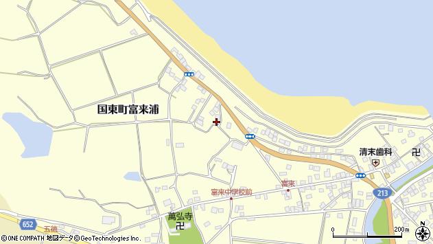 大分県国東市国東町富来浦1071周辺の地図