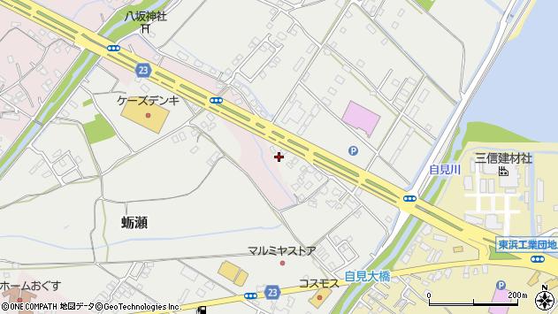 大分県中津市蛎瀬1161周辺の地図