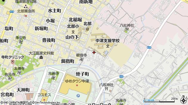 大分県中津市蛎瀬524周辺の地図
