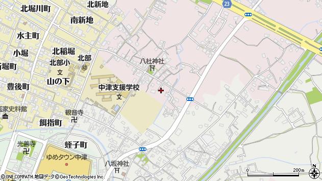 大分県中津市大塚76周辺の地図