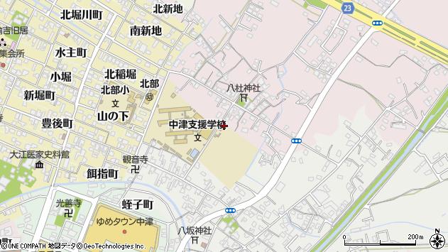 大分県中津市大塚556周辺の地図