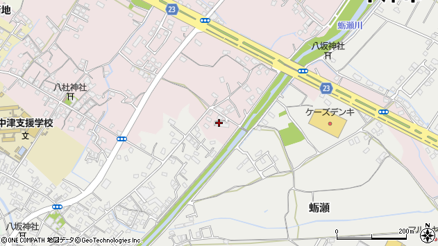 大分県中津市大塚521周辺の地図