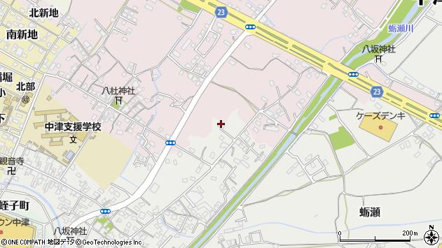 大分県中津市蛎瀬627周辺の地図
