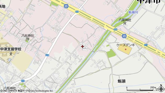 大分県中津市大塚523周辺の地図