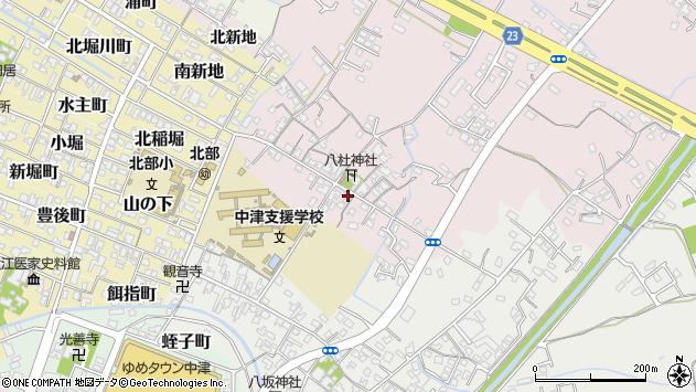 大分県中津市大塚周辺の地図