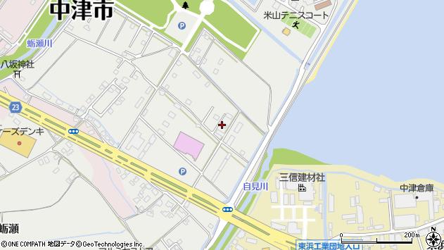 大分県中津市蛎瀬1303周辺の地図
