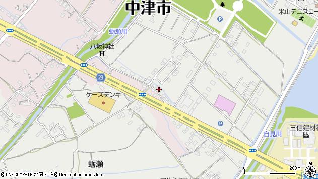 大分県中津市蛎瀬1175周辺の地図
