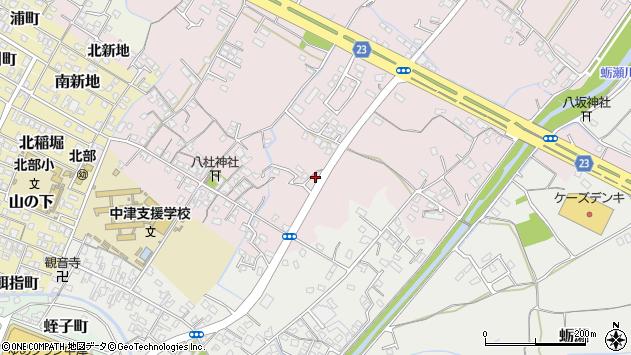 大分県中津市大塚540周辺の地図