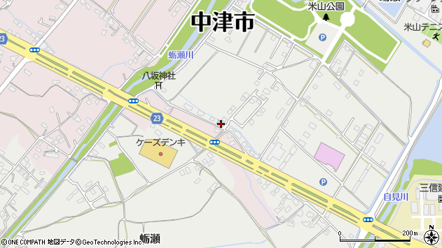 大分県中津市蛎瀬1176周辺の地図