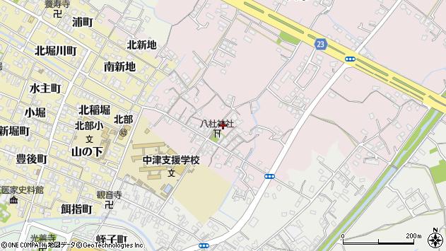 大分県中津市大塚104周辺の地図