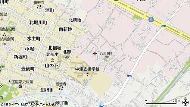 大分県中津市大塚116周辺の地図