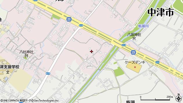 大分県中津市大塚492周辺の地図
