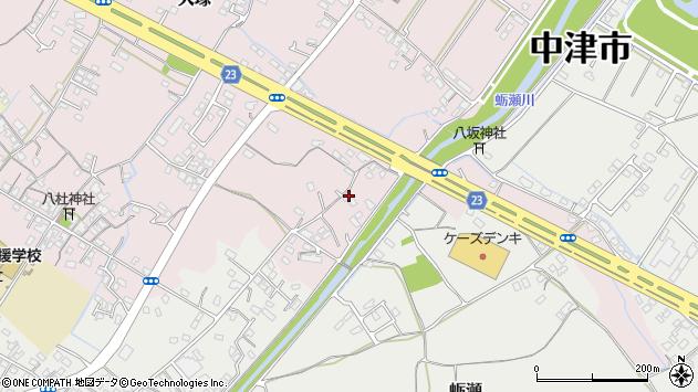 大分県中津市大塚507周辺の地図