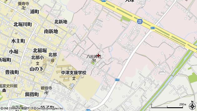 大分県中津市大塚103周辺の地図