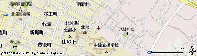 大分県中津市大塚33周辺の地図