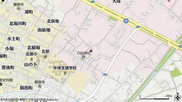 大分県中津市大塚101周辺の地図