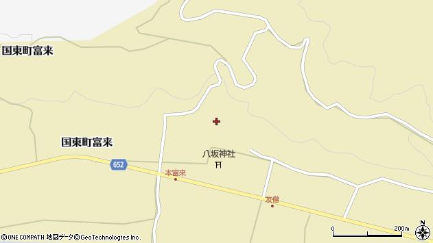 大分県国東市国東町富来889周辺の地図