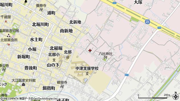 大分県中津市大塚123周辺の地図