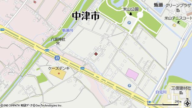 大分県中津市蛎瀬1222周辺の地図