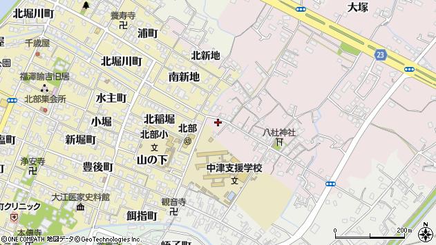 大分県中津市大塚28周辺の地図