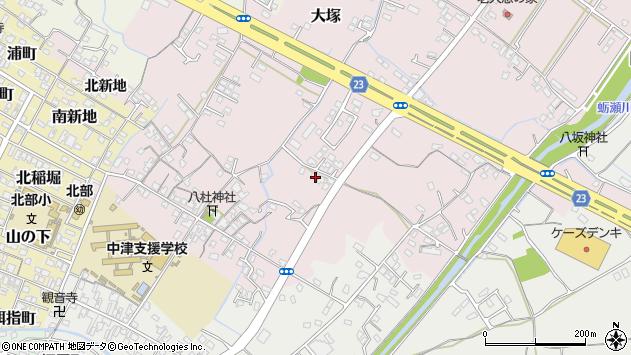 大分県中津市大塚444周辺の地図