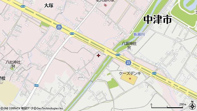 大分県中津市大塚398周辺の地図