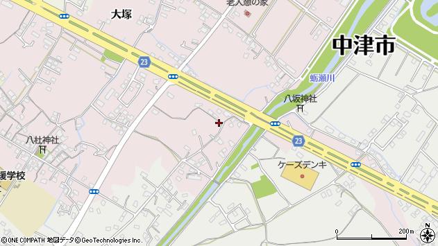 大分県中津市大塚502周辺の地図