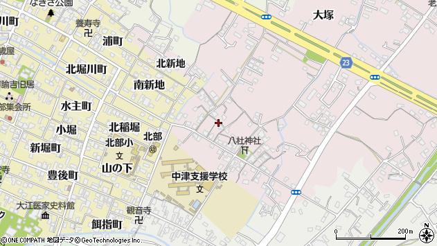 大分県中津市大塚125周辺の地図